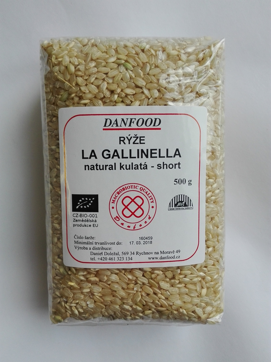 Rýže La Gallinella Natural SHORT BIO, 500g