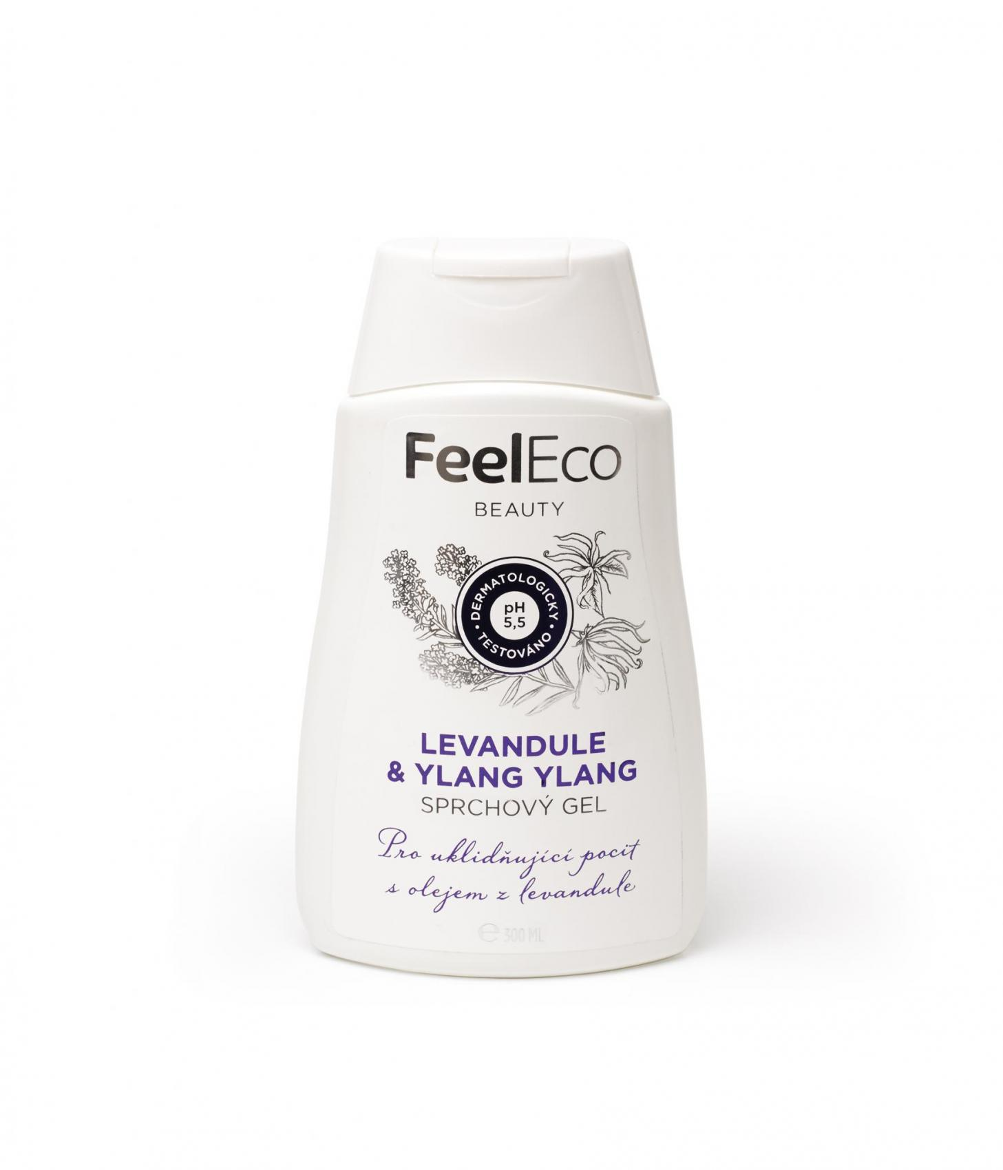 Feel Eco sprchový gel levandule & ylang ylang, 300ml