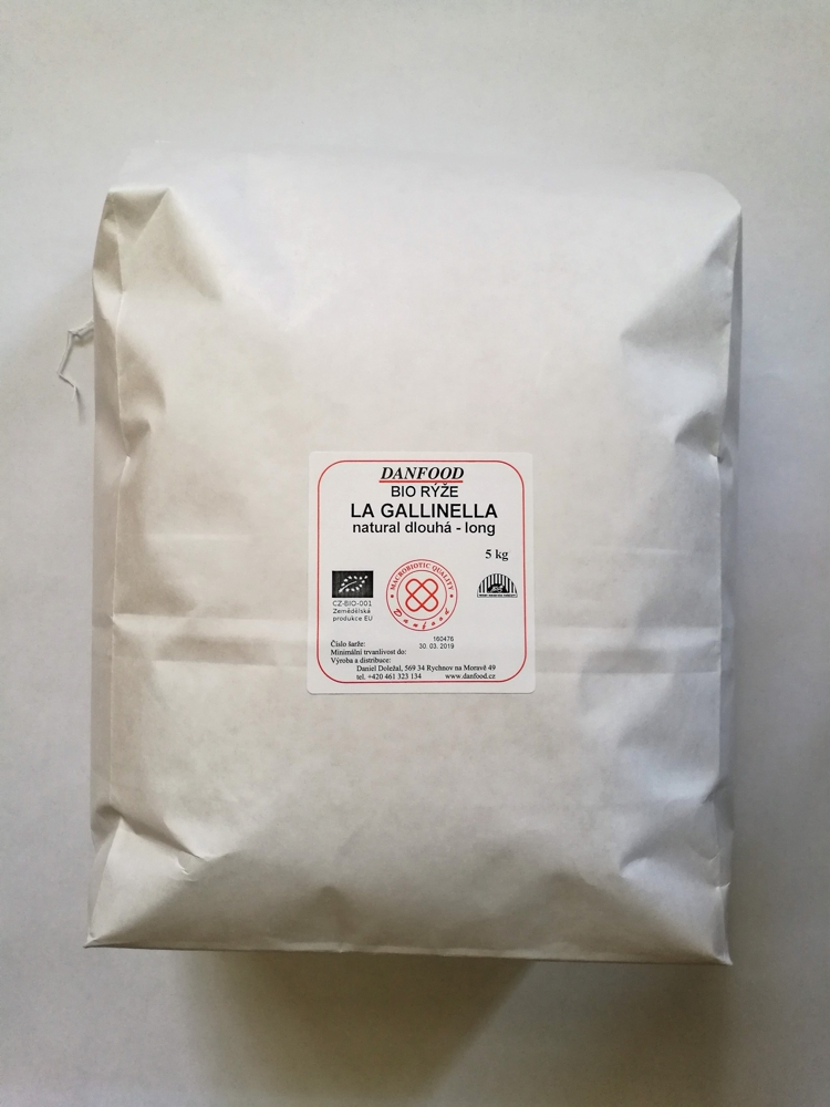 Rýže La Gallinella Natural LONG BIO  5 kg