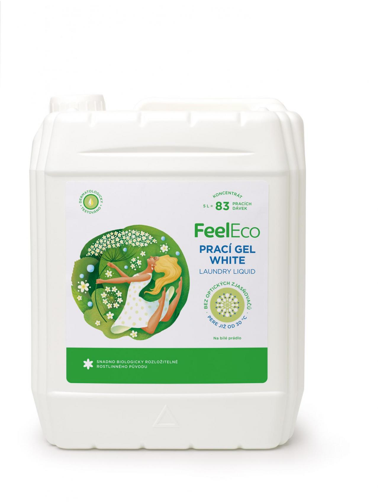 Feel Eco white prací gel 5l